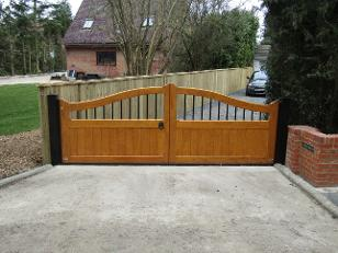 Flood Divert gates in the Classic style with steel spindles